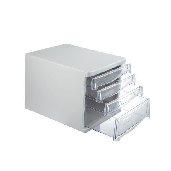Comix συρταριέρα πλαστική με 4 συρτάρια γκρι.